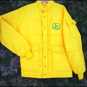 RARE vintage John Deere large Puffy Jacket Coat